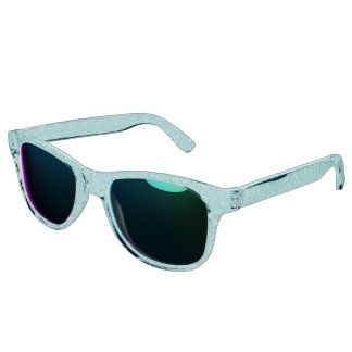 Vintage Floral Lapis Turquoise Teal Sunglasses
