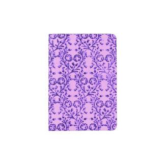 Vintage Floral Lavender Orchid Purple Passport Holder