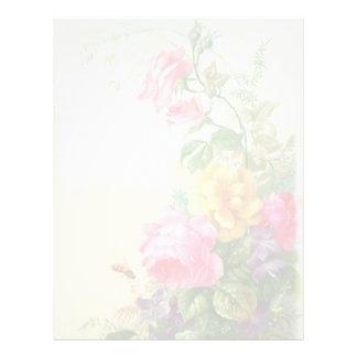 Vintage Floral Letterhead Stationery