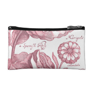 Vintage Floral Marigolds Cosmetics Bags