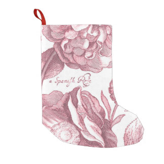Vintage Floral Marigolds Small Christmas Stocking