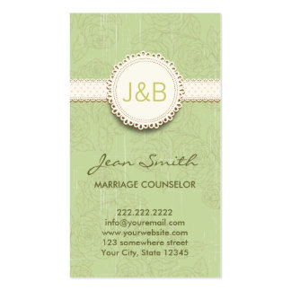 Vintage Floral Marriage Counseling Business Card