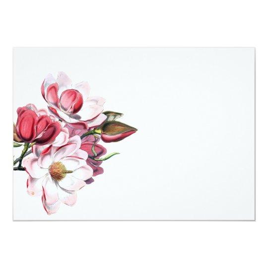 Vintage Floral Modern Wedding Invitation Envelope