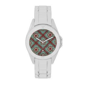Vintage Floral Motif Wristwatches