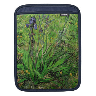 Vintage floral oil painting, Iris by Van Gogh iPad Sleeve