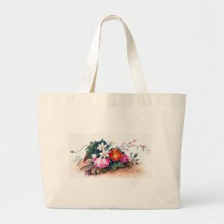Vintage Floral Painting - Anne Wagner Vintage Jumbo Tote Bag