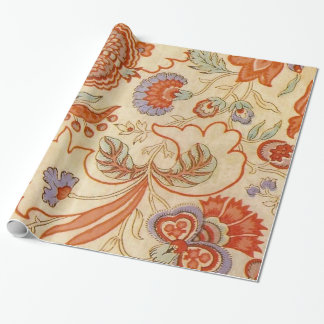 Vintage floral paisley chintz pattern wrapping paper