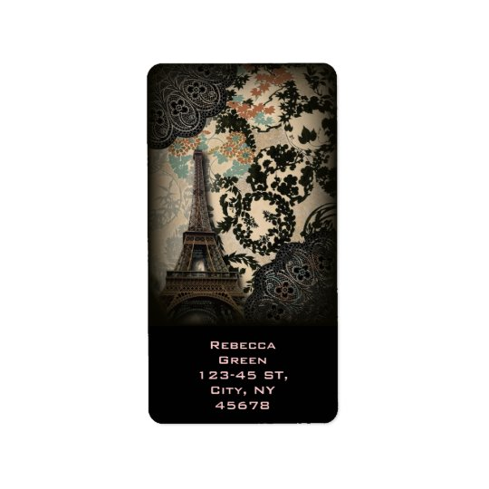 vintage floral paris fashion eiffel tower