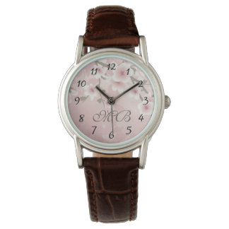 Vintage Floral Pastel Cherry Blossoms Watch