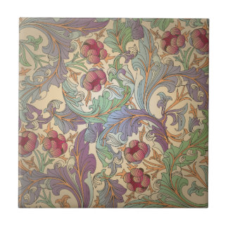 Vintage Floral Pattern - 5 Tile
