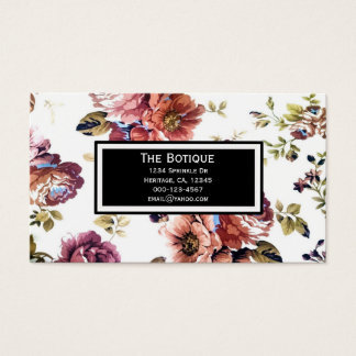 Vintage Floral Pattern Business Cards
