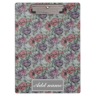 Vintage Floral Pattern. Clipboard