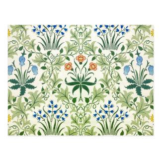 Vintage Floral Pattern Fine William Morris Postcard
