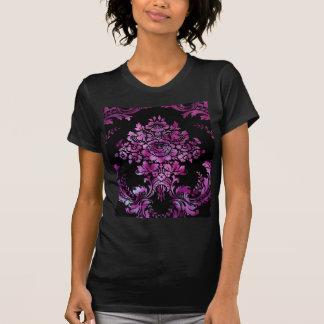 Vintage Floral Pattern Gift Black Pink Tshirts