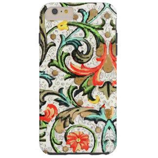 Vintage Floral Pattern iPhone Tough iPhone 6 Plus Case
