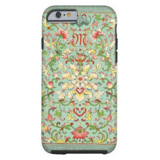 Vintage Floral Pattern Monogram Tough iPhone 6 Case