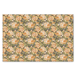 Vintage Floral pattern of yellow roses Tissue Paper