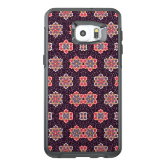 Vintage Floral Pattern Purple w/ Colorful Flowers OtterBox Samsung Galaxy S6 Edge Plus Case