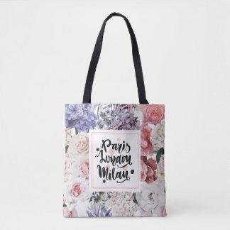 Vintage Floral Pattern Tote Bag