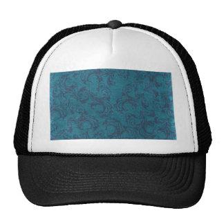 vintage floral pattern trucker hat