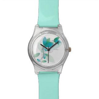 Vintage Floral Pattern Wrist Watch