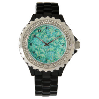 Vintage Floral Pattern Wristwatch