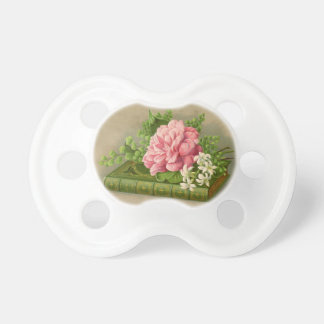 Vintage Floral Peony Classy Book Elegant Baby Pacifier