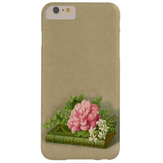 Vintage Floral Peony Classy Book Elegant Barely There iPhone 6 Plus Case
