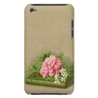 Vintage Floral Peony Classy Book Elegant Barely There iPod Cases