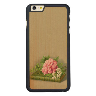 Vintage Floral Peony Classy Book Elegant Carved® Maple iPhone 6 Plus Case