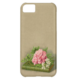 Vintage Floral Peony Classy Book Elegant Case For iPhone 5C