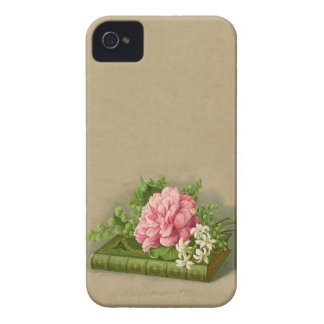 Vintage Floral Peony Classy Book Elegant Case-Mate iPhone 4 Cases