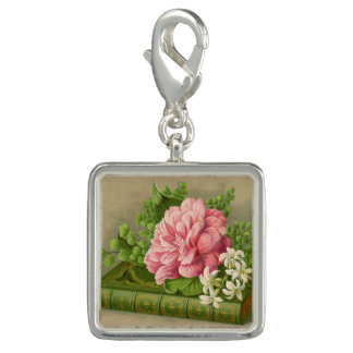 Vintage Floral Peony Classy Book Elegant Charms