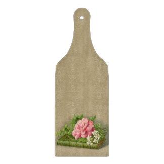 Vintage Floral Peony Classy Book Elegant Cutting Board