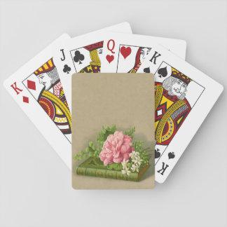 Vintage Floral Peony Classy Book Elegant Poker Deck