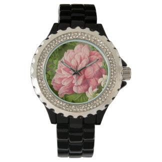 Vintage Floral Peony Classy Book Elegant Watch