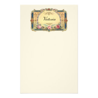Vintage Floral Personalized Stationery