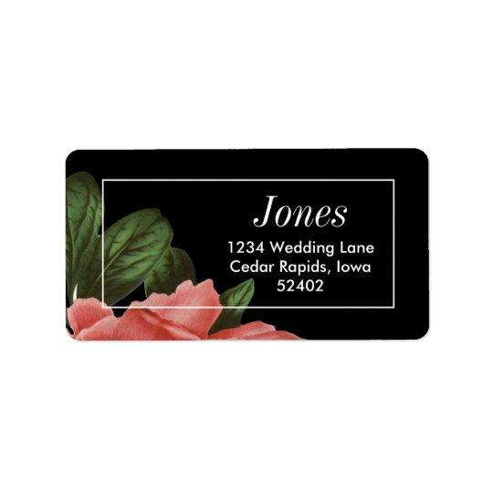 Vintage Floral | Pink Black & White Label
