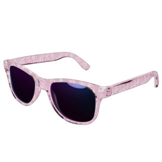 Vintage Floral Pink Pansy Sunglasses