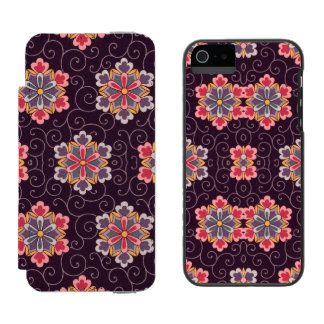 Vintage Floral Plum Background with Flowers Incipio Watson™ iPhone 5 Wallet Case