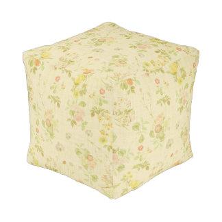 Vintage floral pouf
