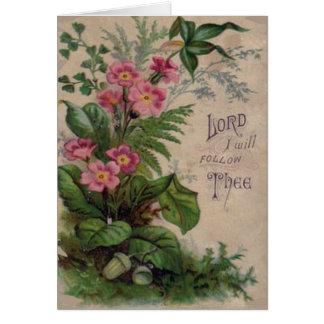 Vintage Floral Prayer Scripture Quote Card