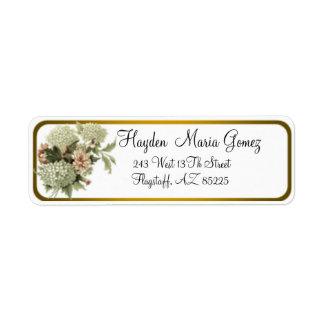 Vintage Floral Return Address Labels
