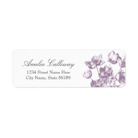 Vintage Floral Return Address Labels / White