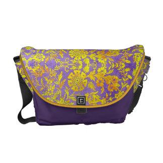 Vintage Floral Rickshaw Bag Messenger Bag