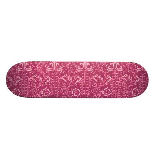 Vintage Floral Rose Skateboard