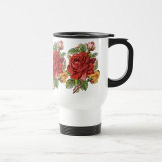 Vintage Floral Rose Travel Mug