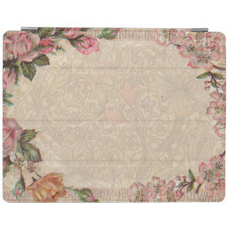 Vintage Floral Roses Antique Soft Girly iPad Cover