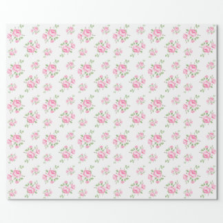 Vintage floral roses classic wrapping paper