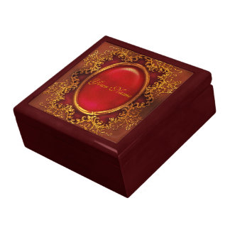Vintage floral ruby womans name gift box